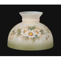 "01163 - 10"" Opal Glass Student Shade, English Daisy Scene"