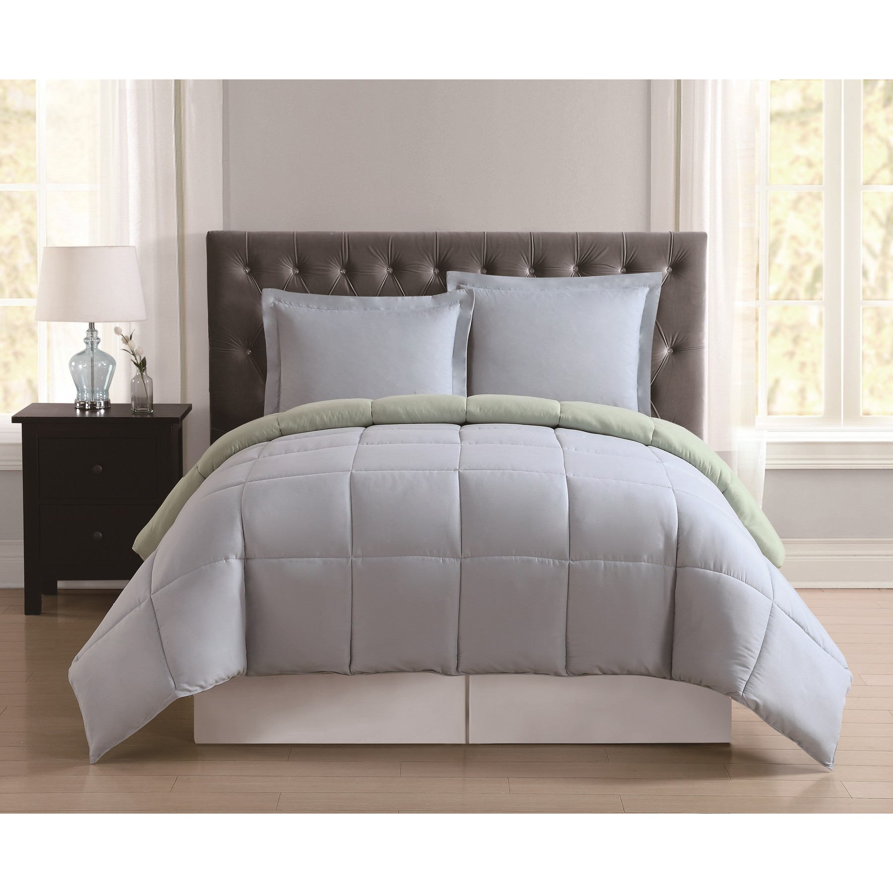 Truly Soft Everyday Blush and Lavender Reversible Twin XL Comforter Set