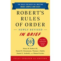Robert's Rules of Order Newly Revised in Brief, 3rd Edition (Edition 3) (Paperback)