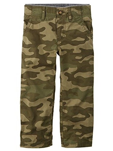 7 The Childrens Place Little Boys Pull-On Cargo Pant Olive Camo