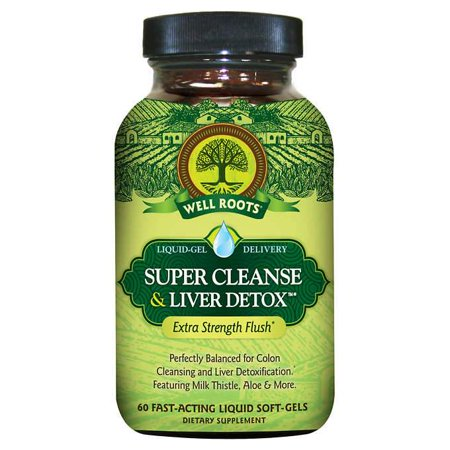 Well Roots Super Cleanse & Liver Detox, 120 Liquid Soft-gels Well Liquid Vitamins