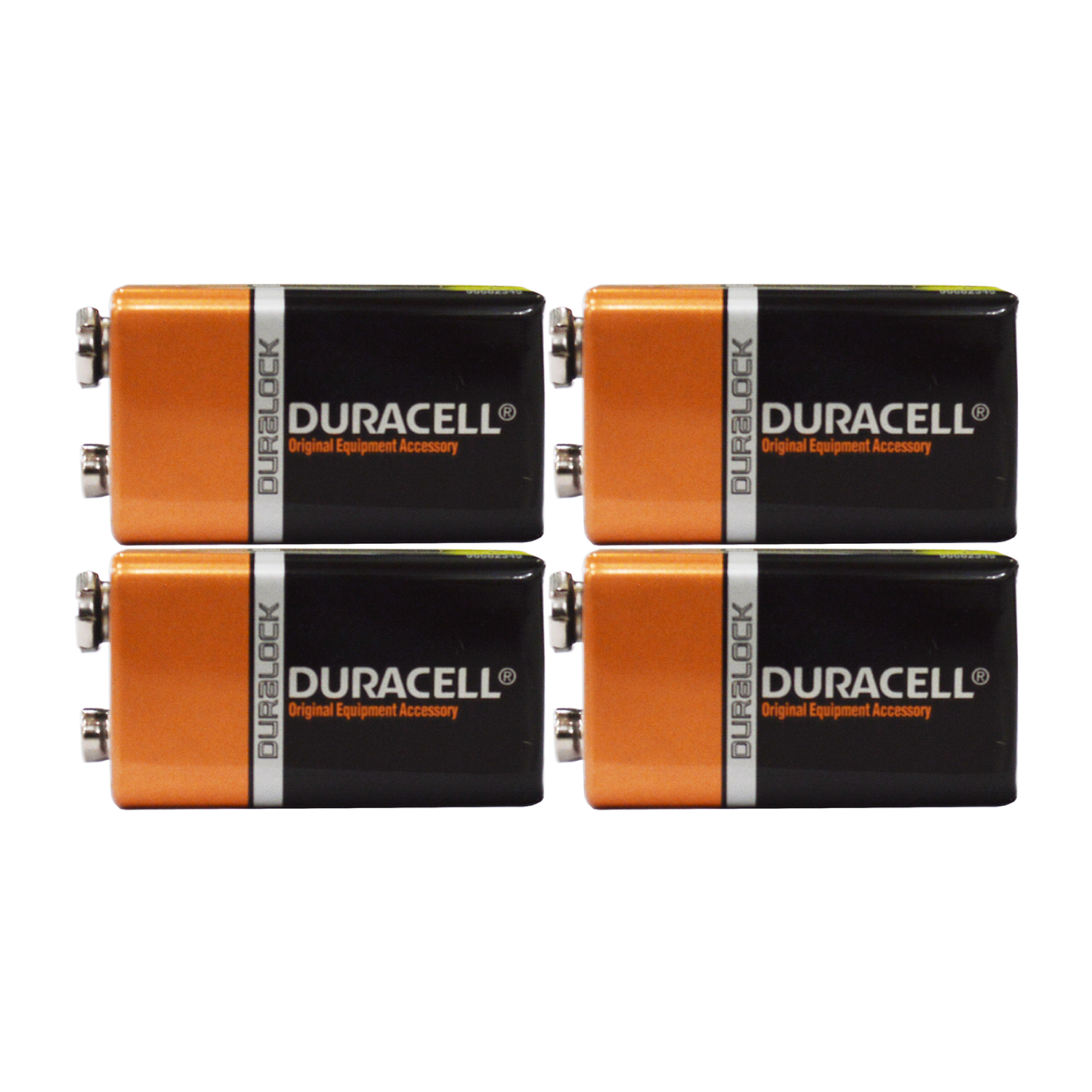 4 Count - Duracell MN1604 9V Volt 6LR61 Duralock Coppertop Alkaline Batteries