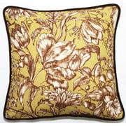 Corona Dcor Corona Decor Green Floral 18-inch Throw Pillow