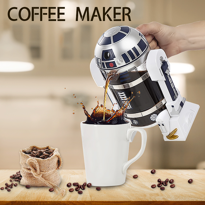 R2-D2 32oz/960ML Household Hand Made French Tee Coffee Press Pot Robot Shape