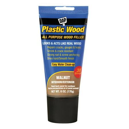 Dap 00584 Plastic Wood Stainable Wood Filler, Walnut, 6