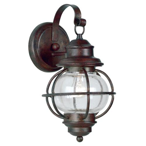 Design Craft  Elton Small Blackened Gilded Copper Wall Lantern