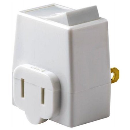 13 Amp 125 Volt White Plug In Outlet Switch Tap - image 1 of 1