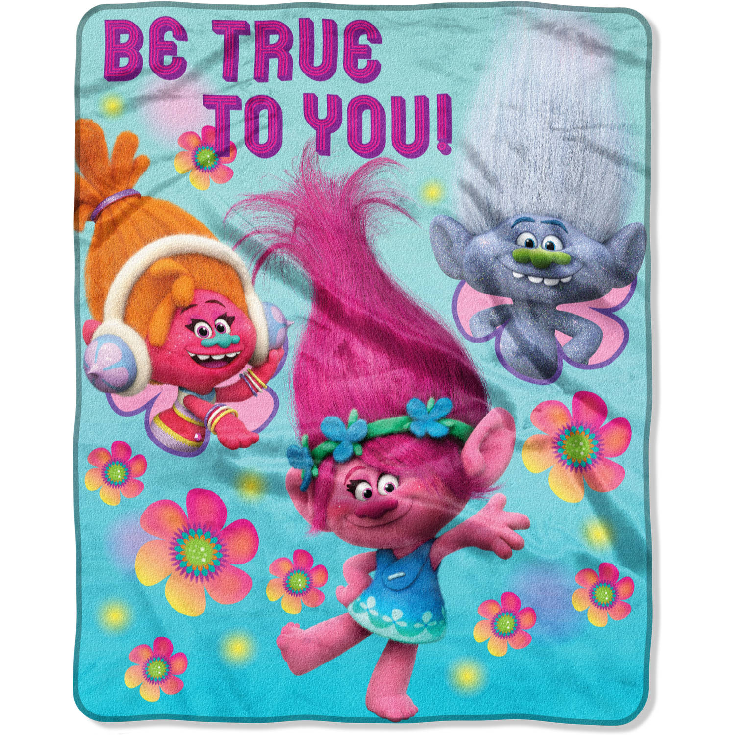 "DreamWorks Trolls ""Be True to You"" 40"" x 50"" Silk Touch Throw"