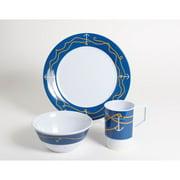 Galleyware Company Decorated Anchorline Melamine 18 Piece Dinnerware Set, Service for 6