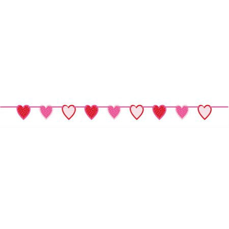 (5 Pack) 6.5' Paper Cut Out Valentine Heart Garland