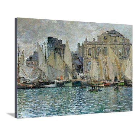 View of Le Havre, 1873 Stretched Canvas Print Wall Art By Claude Monet (Le Monet Halloween)