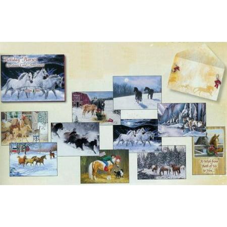 Leanin Tree Christmas Cards.Holiday Horse Leanin Tree Christmas Card Assortment Card Size 5 X 7 By Leanin Tree