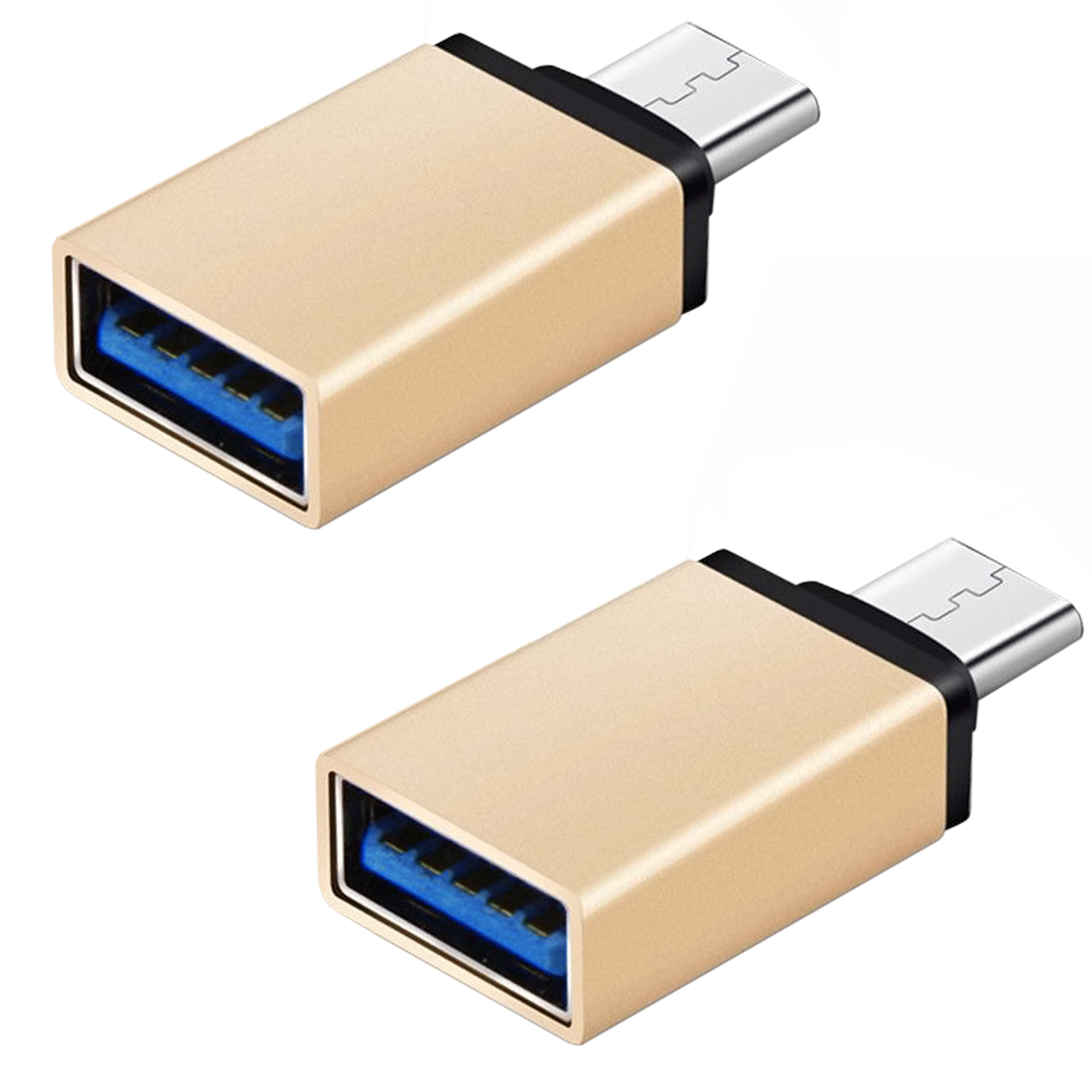 FREEDOMTECH USB C to USB 3.0 OTG Adapter (2 Pack), Thunderbolt 3 Adapter For MacBook Pro, Chromebook, Pixelbook, Microsoft Surface Go, Galaxy S8 S9 Plus Note 8 9, LG V40 G7 G6 Thinq,Google Pixel Slate