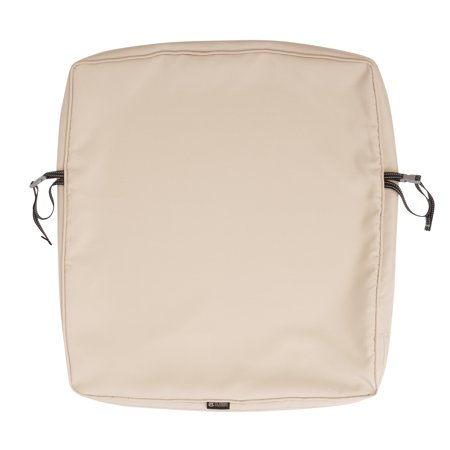 Classic Accessories 21 X25 X2 Beige Patio Cushion Slipcover