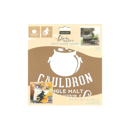 Decoart Value Kraft Stencil 8x8 Halloween Cauldron (Minion Halloween Stencil)