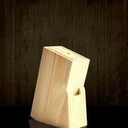 Universal Wood Knives Block Knives Holder Storage Organizer 6 Slot Kitchen Beige