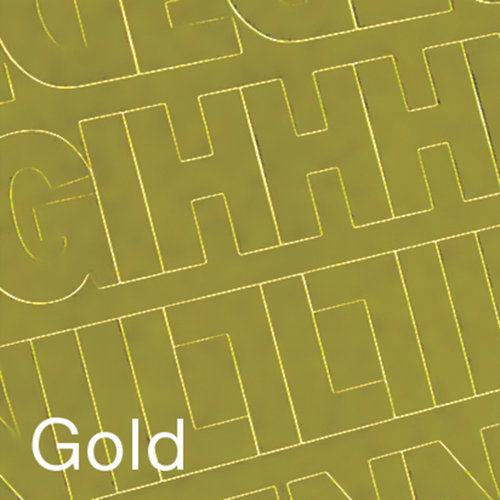 """Permanent Adhesive Vinyl Letters and Numbers, .75"""" 302pk, Gold"""