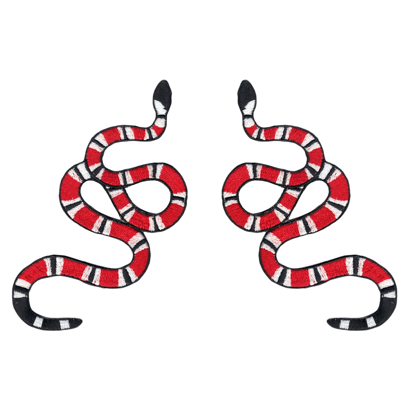 Red Coral Snake (ALT) Combo Sneaker Iron On Applique Patch