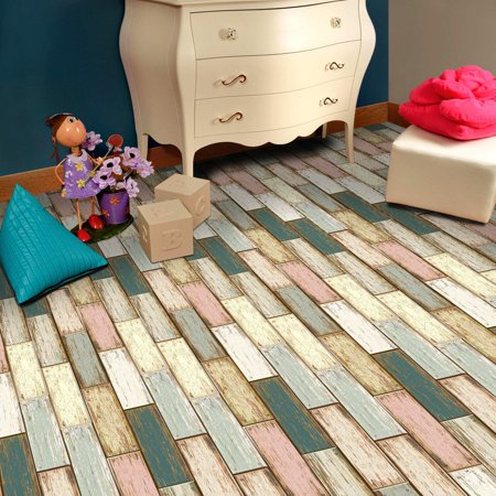 20x50cm Adhesive Tile Art Floor Wall Decal Sticker DIY Kitchen Bathroo