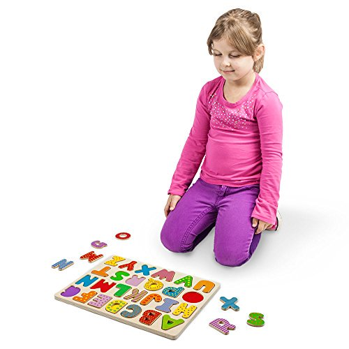 Imagination Generation Professor Poplars Wooden Alphabet Letters Puzzle Board Sensory Tactile Learning