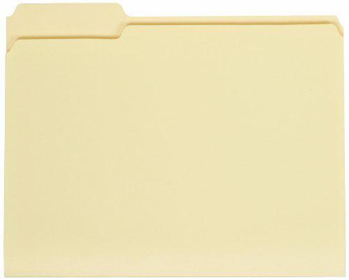 "Globe-weis Manila File Folders Double Top - Letter - 8.50"" X 11"" - 0.75"" Expansion - 1/3 Tab Cut - Assorted Position Tab Location - 11 Pt. - Manila - Manila - 100 / Box (GLW11334)"