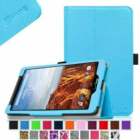 Verizon Ellipsis 8 Case - Fintie Premium Vegan Leather Folio Cover for Verizon Ellipsis 8 4G LTE Tablet, Blue