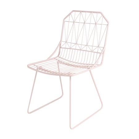 Pleasant Kate And Laurel Thrapston Geometric Metal Accent Chair Pink Andrewgaddart Wooden Chair Designs For Living Room Andrewgaddartcom
