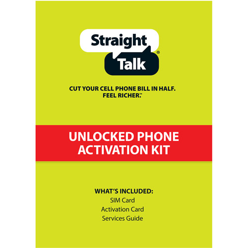 Straight Talk T-Mobile Compatible Standard and Micro SIM Activation Kit
