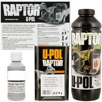U-POL Raptor Tintable Mesa Gray Bed Liner & Texture Coating, 1 Liter Upol