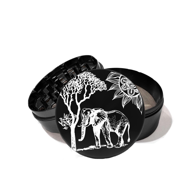 Elephant Tree Sun - Laser Etched Grinder