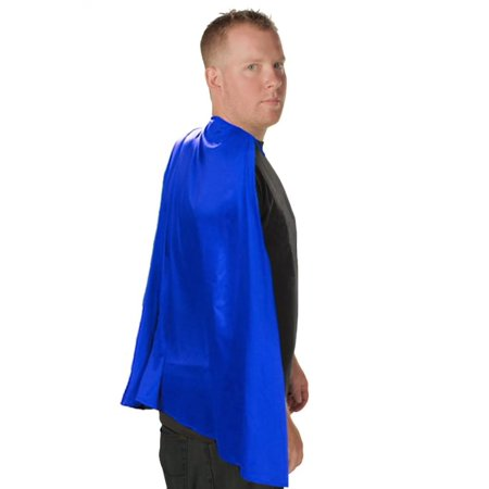 Deluxe Super Hero Costume Cape Blue One Size Fits Most](Blue Cape With Hood)