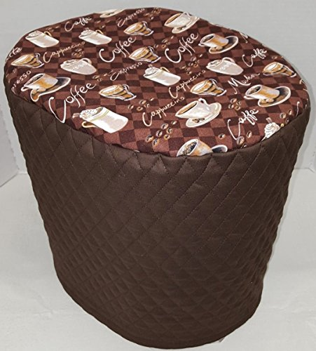 Coffee Cups Instant Pot Pressure Cooker Cover (Chocolate Brown, 6 Quart)