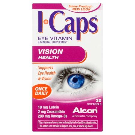 Alcon I-Caps lutéine et oméga-3 vitamine et minéraux supplément Gélules, 30ct