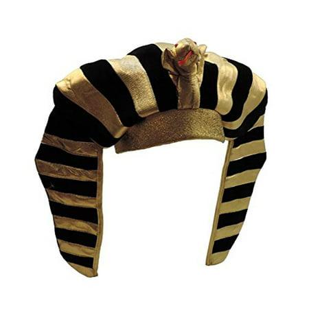 Gold Lamé Egyptian Pharaoh King Tut Costume - Halloween Headgear