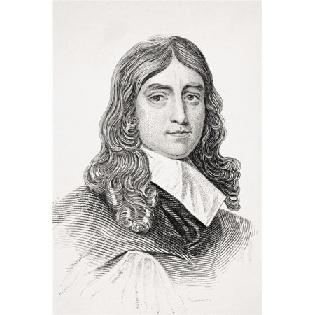 Posterazzi DPI1855374 John Milton 1608-1674 English Poet From Old Englands Worthies by Lord Brougham & Others Published London Circa 1880s Poster Print, 11 x 17 - image 1 of 1