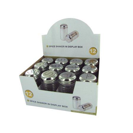 Glass salt pepper shakers countertop display pack of 24 - Salt and pepper shaker display case ...