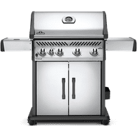 Napoleon Rogue 525 Freestanding Stainless Steel Gas Grill with Infrared Side Burner, Propane