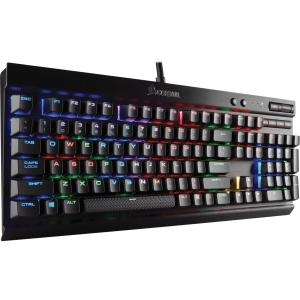 CORSAIR K70 LUX RGB Mechanical Gaming Keyboard - USB Passthrough & Media Controls - Linear & Quiet - Cherry MX Red - RGB LED Backlit