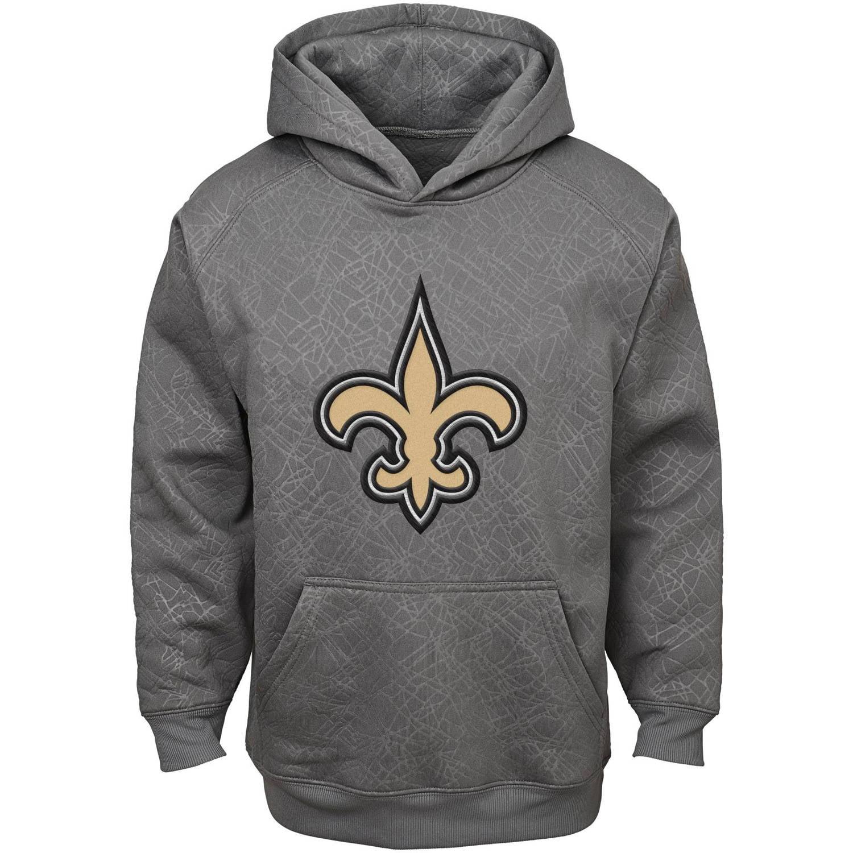 NFL Boys' New Orleans Saints SyntheticHooded Fleece Top