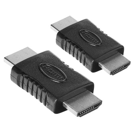 2 Pcs HDMI Type A Male to Male M/M Gender Changer Connector Adapter