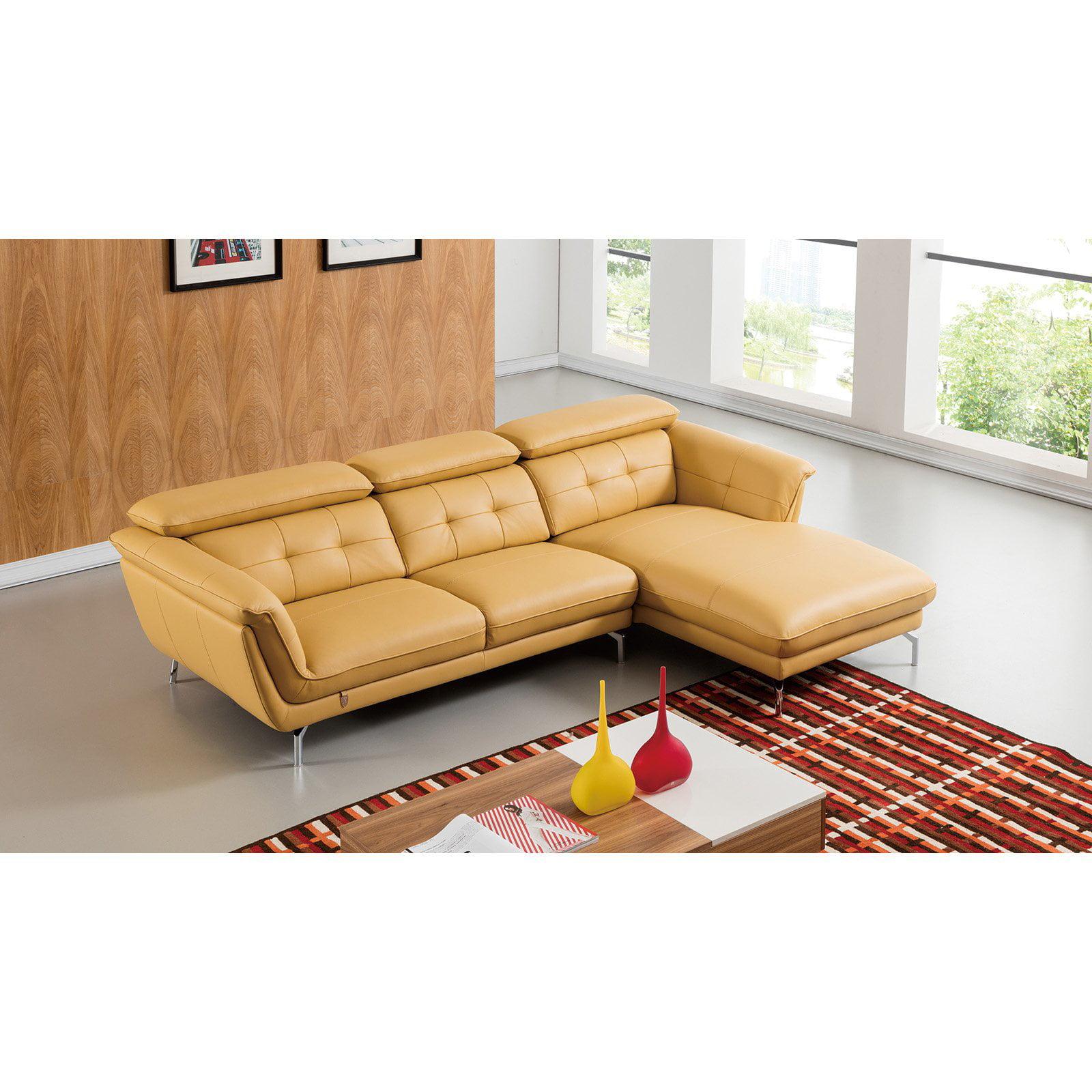 American Eagle Furniture Callahan Italian Leather Sectional Sofa