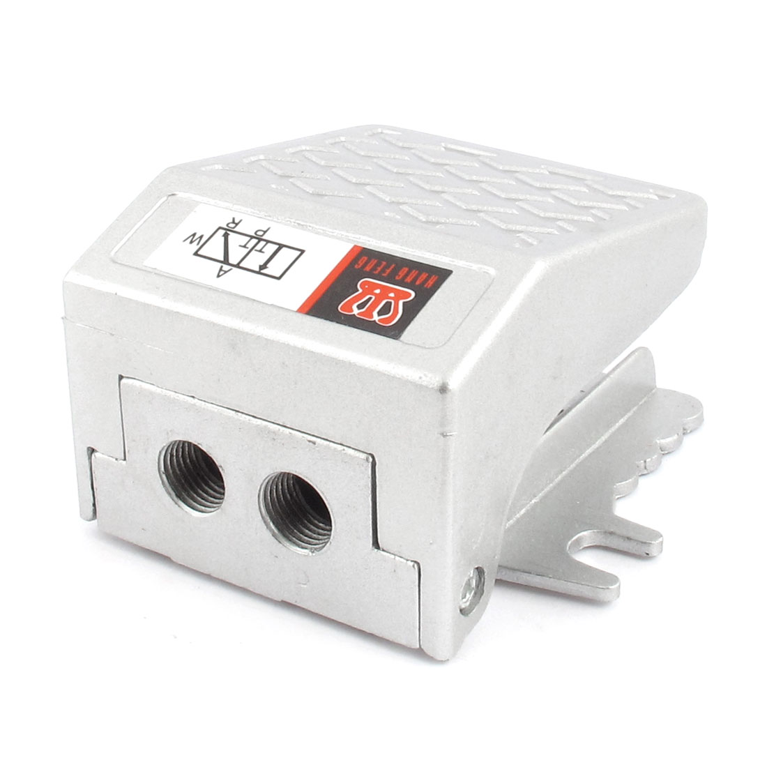 Unique Bargains FV-02 Alloy 1/4BSP Threaded Air Pneumatic Pedal Valve Foot Switch Silver Tone - image 3 of 3