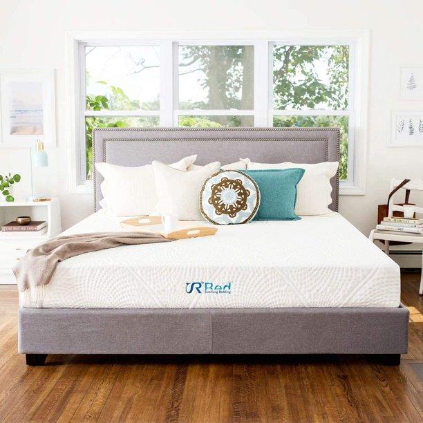"Sunrising Bedding 12"" Gel Memory Foam Mattress California King Size, Firm, No Harmful Chemicals, No Fiberglass, Adjustable Bed Frame Compatible"