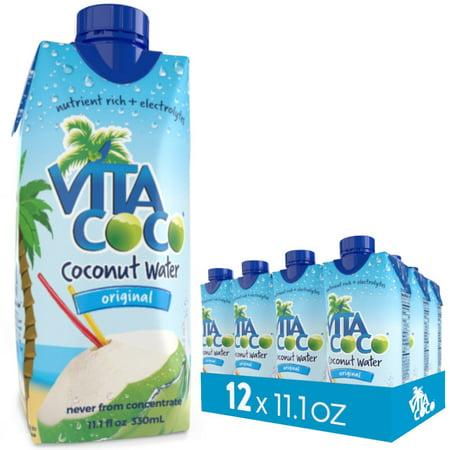 2 Pack Vita Coco Coconut Water, Pure, 11.1 Fl Oz, 12 Count