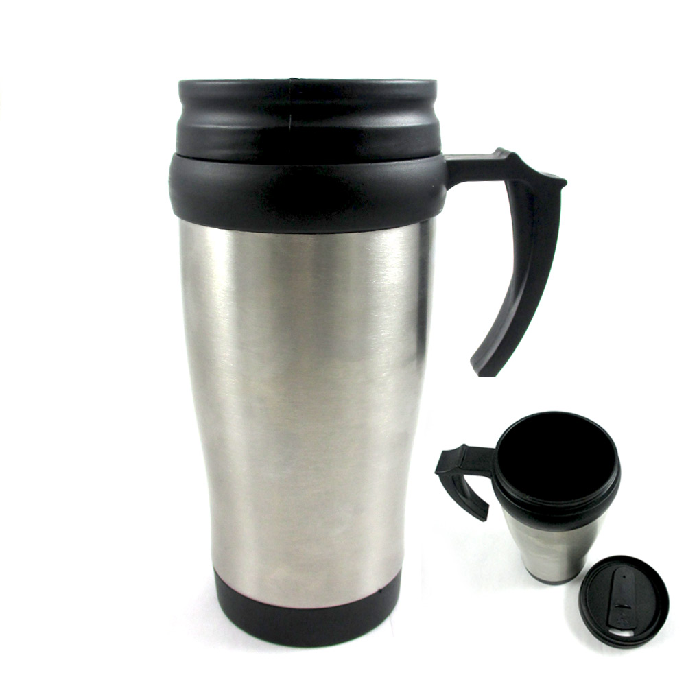 Stainless Steel Insulated Double Wall Travel Coffee Mug Cup 14 Oz Thermos Tea !!