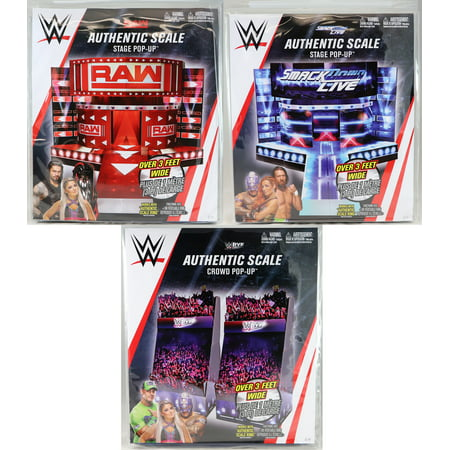 WWE Pop Ups - Set of 3 (Raw, Smackdown & Live