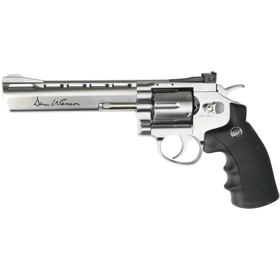 """ASG Dan Wesson 715 6"""" Silver Low Power CO2 Revolver by Generic"""