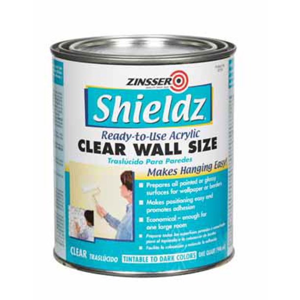 Zinsser 02104 Shieldz 1 Qt Clear Acrylic Wall Size Walmart Com Walmart Com