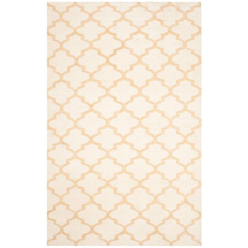Safavieh Dhurries 5' X 8' Hand Woven Flat Weave Wool Rug - image 8 of 10