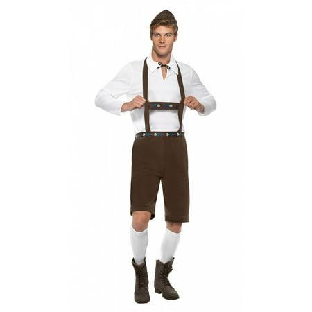 Bavarian Man (Bavarian Man Adult Costume Brown -)